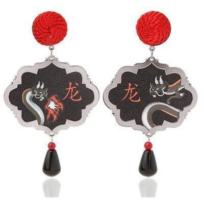 Anna E Alex Drachen-Ohrringe aus Marco Polo Silber