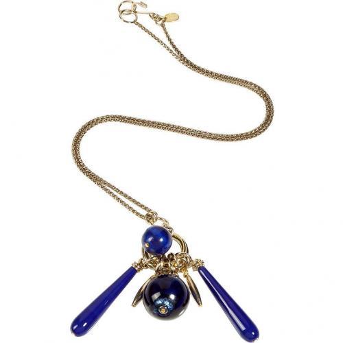 Aris Geldis Lapis Lazuli Blue 1920 Hand-Cut Crystals Halskette