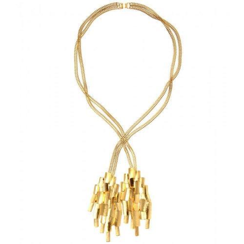 Aurélie Bidermann Machu Picchu Vergoldete Halskette