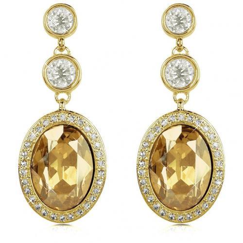 AZ Collection Dreifache Ohrringe mit Swarovskisteinen