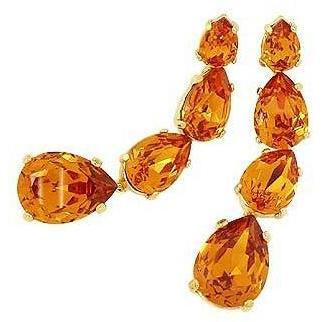 AZ Collection Ohrringe mit mandarinfarbenem Swarovski-Kristall