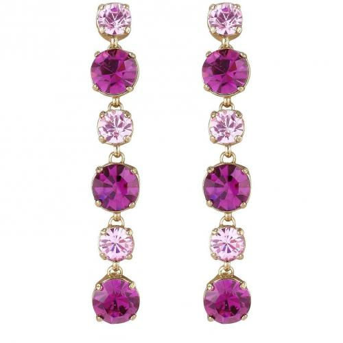 AZ Collection Ohrstecker mit Swarovskisteinen in pink & amethyst