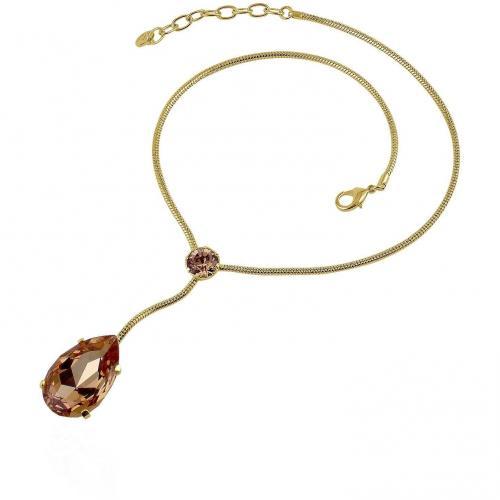 AZ Collection Vergoldete Halskette mit Swarovskikristalltropfen