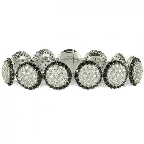 Azhar Armband aus Silber mit zweifarbigen Edelsteinen