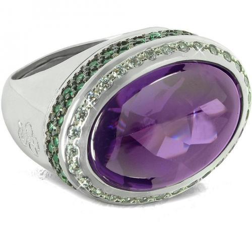 Azhar Cocktail Ring aus Sterling Silber mit Zirkonen