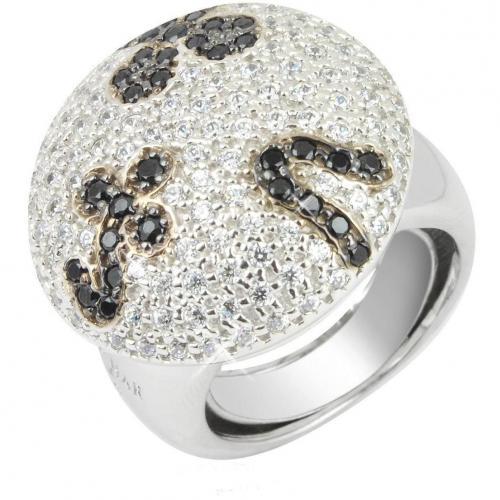 Azhar Fashion Ring in schwarz&weiß