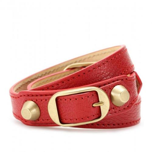 Balenciaga Lederarmband Rot