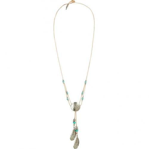 Ben-Amun Antique Silver Plated Large Navaho Halskette