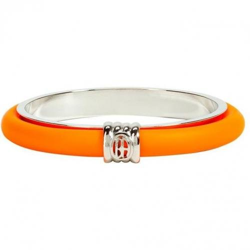 Ben-Amun Neon Orange Skinny Rubber Bangle