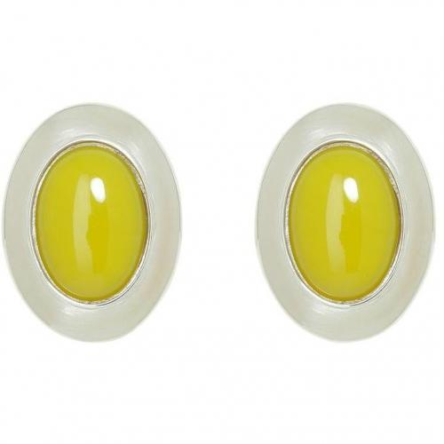 Ben-Amun Silver/Mustard Clip Ohrringe