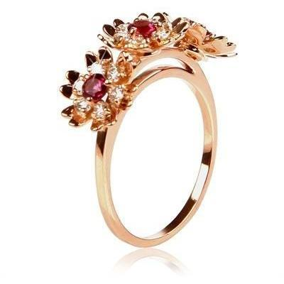 Bliss Rose Marguerite Ring