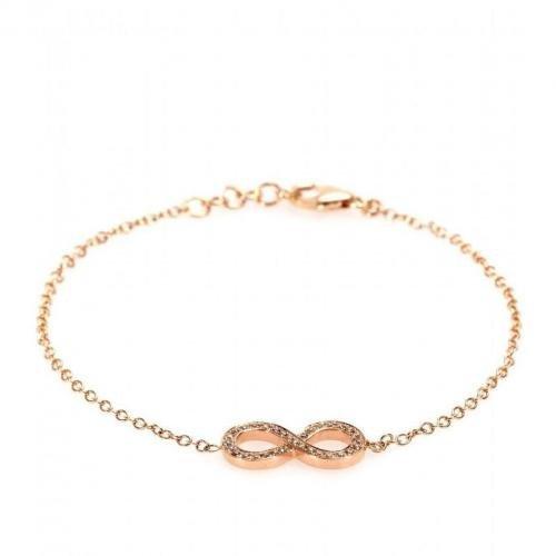 Cada Armband Infinity aus 18kt Rotgold mit braunen Diamanten