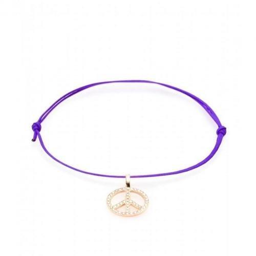 Cada Armband Peace mit 18kt Rotgold Charm und weißen Diamanten