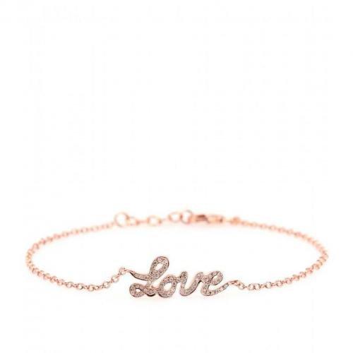 Cada Love Armkette aus 18kt Roségold mit weißen Diamanten