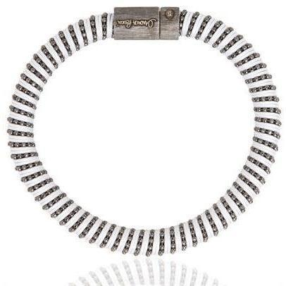 Carolina Bucci Armband aus Seidenzwirnmasche und Silber black and white