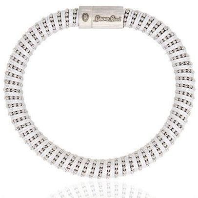 Carolina Bucci Armband aus Seidenzwirnmasche und Silber white