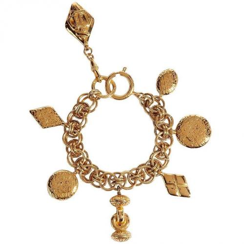 Chanel Vintage Jewelry Golden 80s Charm Armband