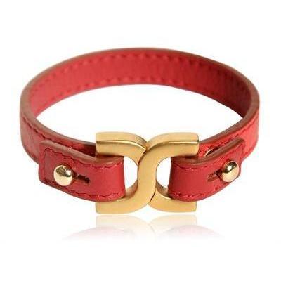 Chloe Armband aus Leder und Messing