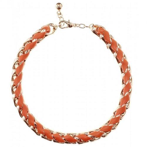 Chloé Gliederkette mit Lederband Orange