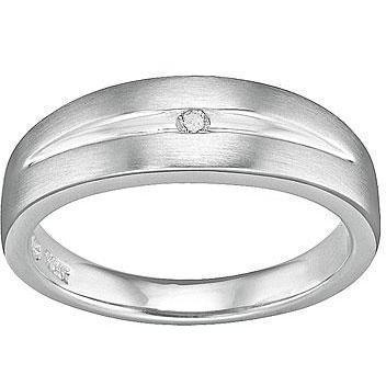 Christ Silver Diamonds Damenring