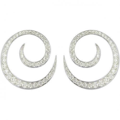 Colucci Diamonds Ohrringe aus 18k Weißgold mit leuchtenden Diamanten Spirale