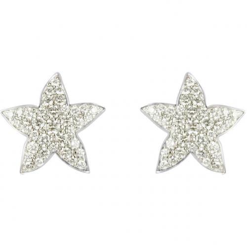 Colucci Diamonds Ohrringe aus 18k Weißgold mit leuchtenden Diamanten Stern