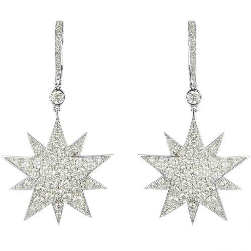 Colucci Diamonds Ohrringe in Sternform aus 18k Weißgold mit Diamanten