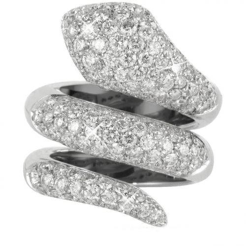 Colucci Diamonds Schlange Ring aus 18k Weißgold mit Diamanten