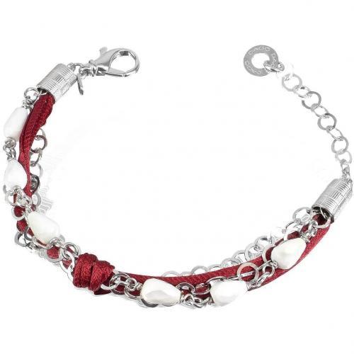 Daco Milano Armband aus Sterlingsilber mit Edelsteinanhängern