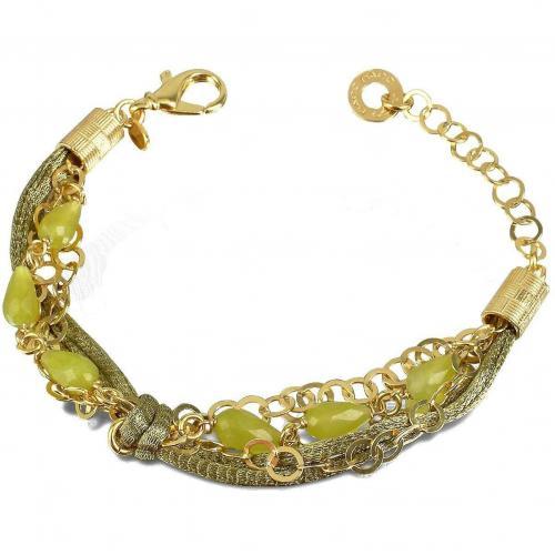 Daco Milano Armband aus Sterlingsilber mit Jadesteinen