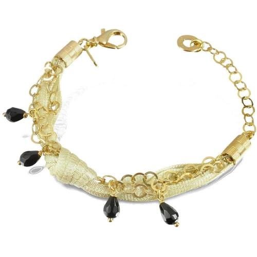 Daco Milano Armband aus Sterlingsilber mit Onyxanhänger