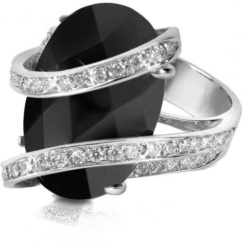 Del Gatto Ring aus 18k Gold mit Edelstein und Diamanten