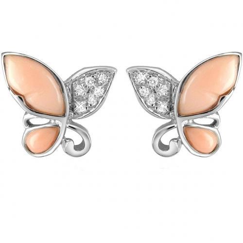 Del Gatto Schmetterling Ohrringe aus 18k Gold mit Diamanten