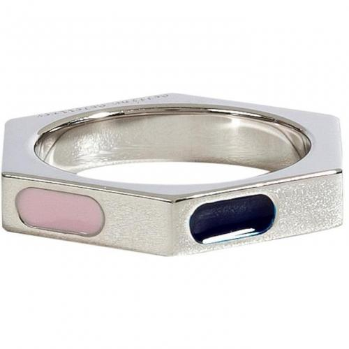 Delfina Delettrez Silver/Enamel Ray of Light Ring