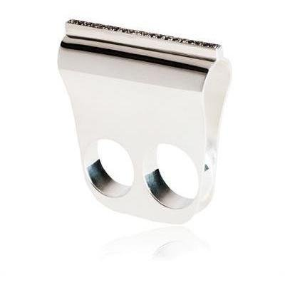 Diletta Gioacchini Silber Ring mit Schwarzen Diamanten