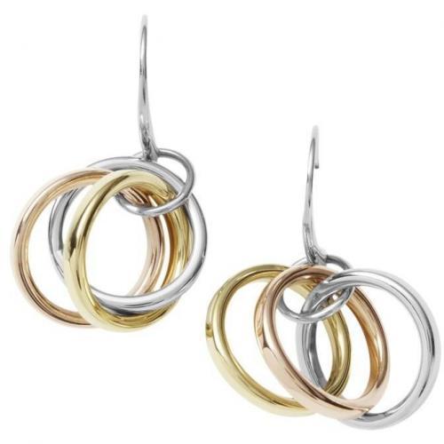 DKNY Damen-Ohrringe Gold Silber