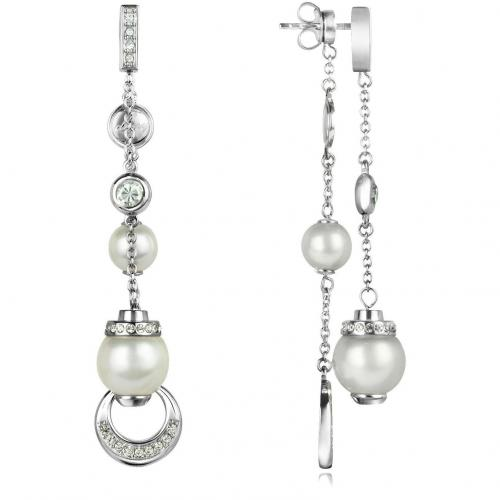 dkny ohrringe aus edelstahl mit perlen und kristallen. Black Bedroom Furniture Sets. Home Design Ideas