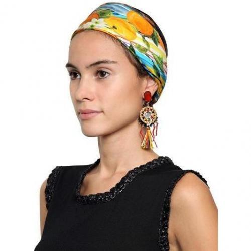 Dolce & Gabbana Clip-On-Ohrringe aus Pompon und Raffia