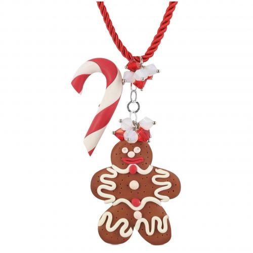 Dolci Gioie Candy Cane & Gingerbread Man Halskette
