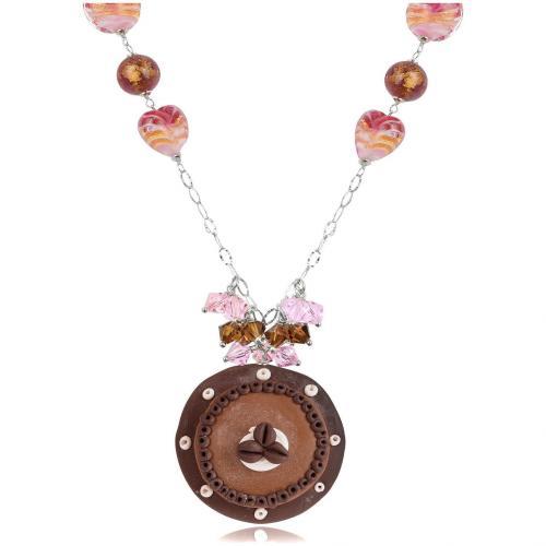 Dolci Gioie Halskette aus Sterlingsilber mit Schokotortenanhänger