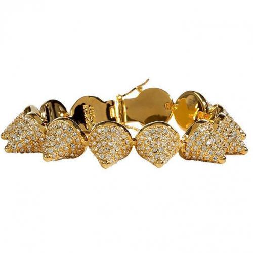 Eddie Borgo Gold Crystal Encrusted Pave Cone Armband