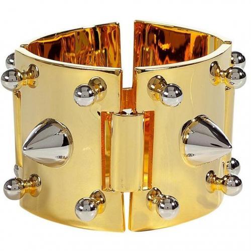 Eddie Borgo Gold Cuff with Silver Studds