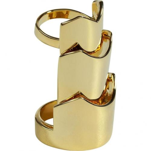 Eddie Borgo Gold Hinged Plate Ring