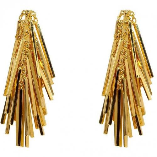 Eddie Borgo Gold Tinsel Ohrringe
