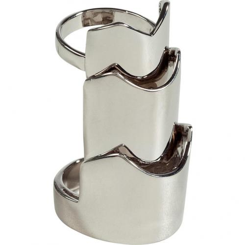 Eddie Borgo Rhodium Hinged Plate Ring