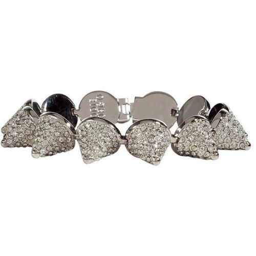 Eddie Borgo Silver Crystal Encrusted Pave Cone Armband