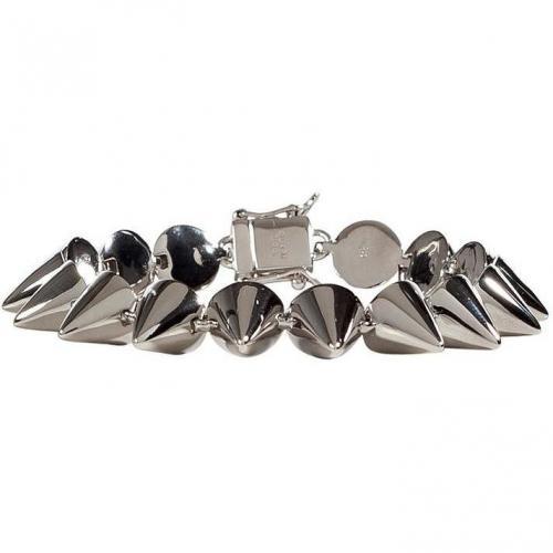 Eddie Borgo Silver Small Cone Armband