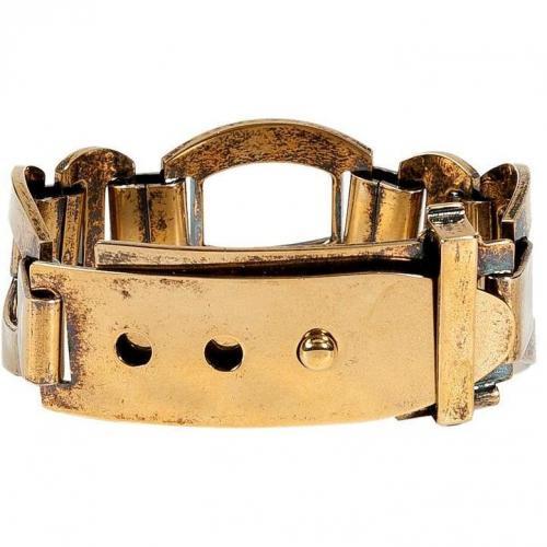 Emilio Pucci Brass Push-Stud Buckle Armband