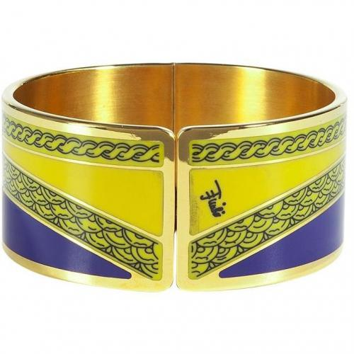 Emilio Pucci Royal Blue/Honey Art Deco Armlet