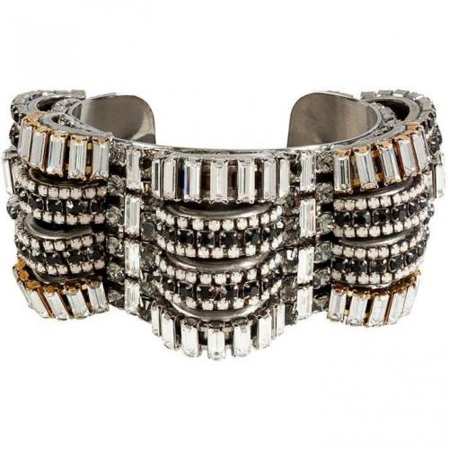 Erickson Beamon White/Black Crystal Time Warp Cuff
